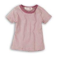 2SLUBT13: Girls Purple Stripe Jersey Tshirt (9 Months-3 Years)
