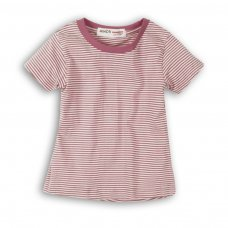 2SLUBT13PP: Girls Purple Stripe Jersey Tshirt (8-13 Years)