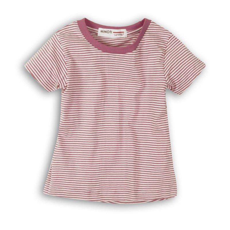2SLUBT13PP: Girls Purple Stripe Jersey Tshirt (8-13 Years)