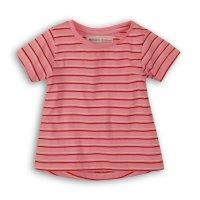 2SLUBT14PP: Girls Bright Pink Stripe Jersey Tshirt (8-13 Years)