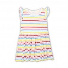 2TDRESS01: Girls Multi Stripe Dress (9 Months-3 Years)