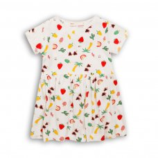 2TDRESS18: Girls Aop Dress With Turn Up (9 Months-3 Years)