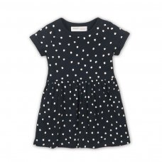 2TDRESS22: Girls Stars Dress With Turn Up (9 Months-3 Years)