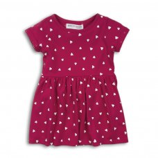 2TDRESS24: Girls Hearts Dress With Turn Up (9 Months-3 Years)