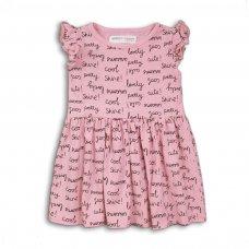 2TDRESS07: Girls Words Dress (9 Months-3 Years)