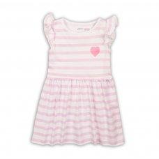2TDRESS08: Girls Pink Stripe Dress (9 Months-3 Years)