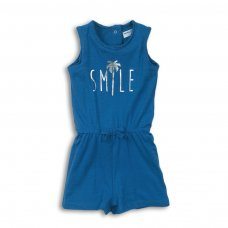 2TPS04: Girls Smile Foil Print Playsuit (9 Months-3 Years)
