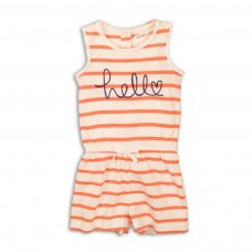 2TSPS10: Girls Hello Stripe Playsuit (9 Months-3 Years)