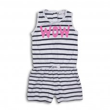 2TSPS09: Girls Wow Stripe Playsuit (9 Months-3 Years)
