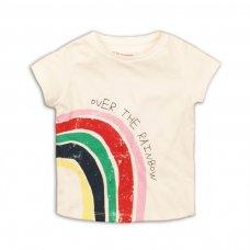 2TTEE01: Girls Rainbow Graphic Tshirt (9 Months-3 Years)