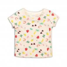 2TTEE04: Girls Aop Graphic Tshirt (9 Months-3 Years)