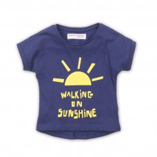 2TTEE05: Girls Sunshine Graphic Tshirt (9 Months-3 Years)