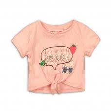 2TTEE09: Girls Beach Graphic Tshirt (9 Months-3 Years)