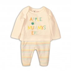 ABC 1: 2 Piece Top & Stripe Legging Set (0-12 Months)