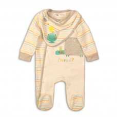 ABC 2: 2 Piece Sleepsuit & Hat Set (0-12 Months)