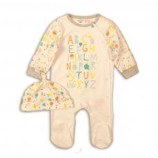 ABC 6: 2 Piece Sleepsuit & Hat Set (0-12 Months)