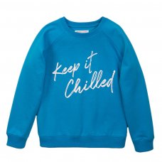 3KIDBCREW 5J: Turq Keep It Crew Jumper (3-8 Years)