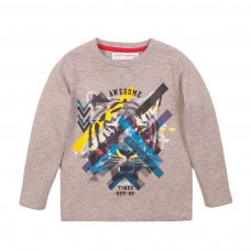 3KIDCTEE 6T: Grey Awesome Times Crew Tee (8-13 Years)