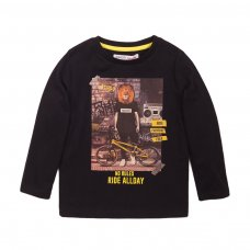 3KIDCTEE 8J: Black No Rules Crew Tee (3-8 Years)