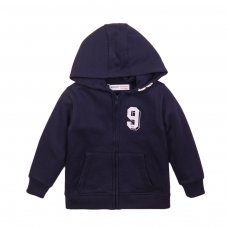 3KIDZTHRU 5J: Navy Graphic Zip Thru (3-8 Years)