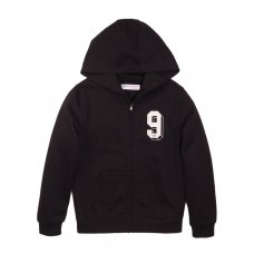 3KIDZTHRU 8J: Black Graphic Zip Thru (3-8 Years)