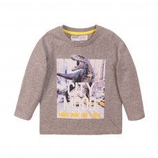 3TODCTEE 1K: Grey Marl City Mood Crew Tee (9 Months-3 Years)