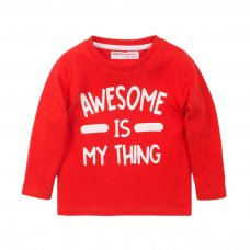 3TODCTEE 3K: Red Awesome Crew Tee (9 Months-3 Years)