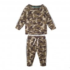 3TODJGSET 4J: Camo Fleece Jogset (3-8 Years)