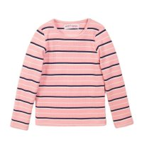 4GRIB 7K-1: Pink Stripe Long Sleeve Ribbed Top (9 Months-3 Years)(odd sizes)
