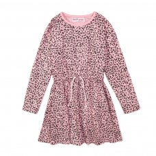 4KIDDRES 10T: Light Pink Aop Jersey Dress (8-13 Years)
