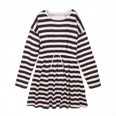 4KIDDRES 11T: Stripe Jersey Dress (8-13 Years)