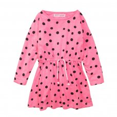 4KIDDRES 8T: Pink Aop Jersey Dress (8-13 Years)