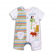 Bright 4: Short Sleeve / Short Leg Romper (0-12 Months)