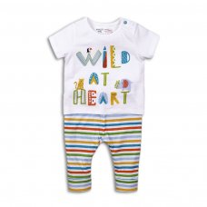 Bright 6: 2 Piece Top & Stripe Legging Set (0-12 Months)