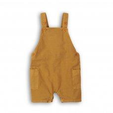 Camel 5P: Linen Look Bibshort (12-24 Months)