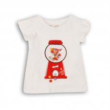 Candy 6: Tshirt With Pom Pom Details (9 Months-3 Years)