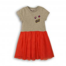 Girl 6: Mixed Fabric Dress (9 Months-3 Years)