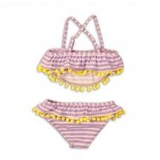 KG BIKINI 15: 2 Piece Purple Stripe Bikini (3-8 Years)