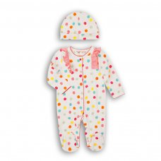 Lullaby 3: 2 Piece Sleepsuit & Hat Set  (0-12 Months)