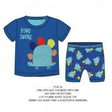 PYJA 26P: 2 Piece Dino Snore Pyjama Set (3-8 Years)