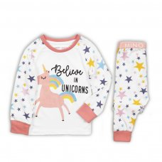 PYJA 5P: 2 Piece Unicorns Top / Ao Stars Pyjama Set (3-8 Years)