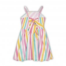 Parrot 5: Woven Printed Striped Dress (3-8 Years)