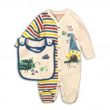Rex 5: 2 Piece Sleepsuit & Bib Set  (0-12 Months)