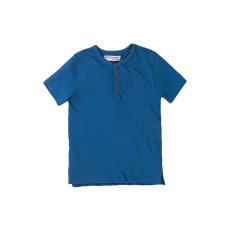 5HENLEY 8K: Boys Wash Blue Slub Henley Top (1-3 Years)