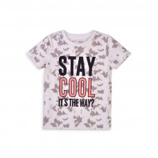 5KTEE 4T: Boys Stay Cool Crew T-Shirt (8-13 Years)