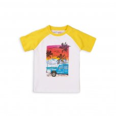5TRAGLN 3K: Boys Surfin Mood Raglan T-Shirt  (1-3 Years)