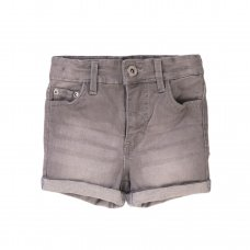 6DSHORT 4T: Girls Grey Denim Short (8-13 Years)