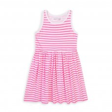 6KDRESS 14T: Girls Stripe Sleeveless Dress (8-13 Years)