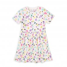 6KDRESS 8T: Girls Cream Aop Dress (8-13 Years)