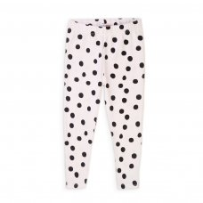 6KLEG 11T: Girls White Spotty Legging (8-13 Years)